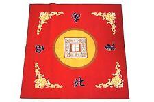 Mah jong Mat Paigow Card Game Table Cover Mah jongg Mahjongg Red
