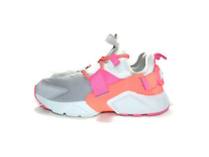 Nike Sneakers Gray Pink Air Huarache City Low Atmosphere Gray Running Womens 7