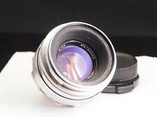 """HELIOS 44, KMZ, """"Silver"""",  """"White"""", 2/58, M39 (Zenit mount), 13 aperture blades."""
