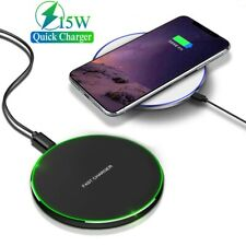 15W Qi Wireless Fast Charging Charger For Samsung S10e S9 S10 Plus iPhone 12 Pro