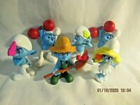 SMURF McDonald's Happy Meal Toys 2011 lot of 6