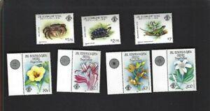 Seychelles Z.E.S. sc#43-5,122-5 (1983-6) Complete MNH