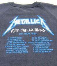 1985 Vintage METALLICA RIDE THE LIGHTNING US TOUR SWEATSHIRT DATES/CITIES