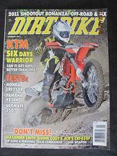 Dirt Bike January 2011 Honda CRF250R, Yamaha YZ144, YZ125; KTM 250XC, 350SX
