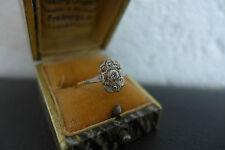 Biedermeier Ring/ Altschliff 0,1 Karat/ 18 Ct, 750(#1719#)