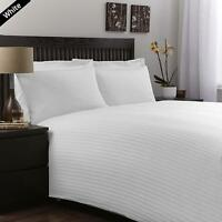 UK ALL SIZE BEDDING ITEMS-FITTED,FLAT,DUVET 1000TC EGYPTIAN COTTON(WHITE STRIPE)
