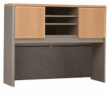 Bush Furniture Series A: 48 Inch Office Desk Hutch in Light Oak - WC64349