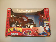 "SPIDER-MAN WEB-CYCLE w 5""FIGURE SPIDEY MISSILE FIRING(MARVEL NOW SUPERIOR 123567"