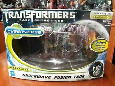 TRANSFORMERS CYBERVERSE COMMANDER DOTM SHOCKWAVE FUSION TANK 3 IN 1