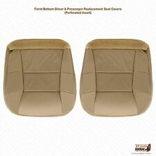 2002 Lincoln Navigator DRIVER-PASSENGER Bottom PERFORATED Leather Seat Cover Tan