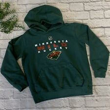 Minnesota Wild NHL Kid's Pullover Hoodie Sweater Green Size Youth Medium 8/10