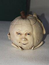 Rare 2001 Harmony Kingdom Ozzie Roly Poly Pumpkin Figurine Halloween Trinket # 1