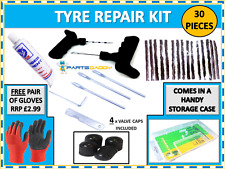 Car Van Tyre Tire Tubeless Puncture Repair Kit With 15 Strips Gloves 15-14