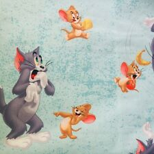 Disney Licensed Tom & Jerry Cotton Fabric Curtains Crafts Bags Cushion WIDE RARE