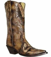 Low (3/4 in. to 1 1/2 in.) Leather Pull On Cuban Boots for Women