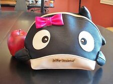 BETSEY JOHNSON Whale Kitsch Clutch Cosmetic Bag Purse