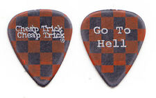 Cheap Trick Tom Petersson Red/Black Checkerboard Guitar Pick - 2000 Tour