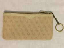 DOONEY & BOURKE Signature Wallet Key Chain POUCH Beige Color Good Pre-Owned