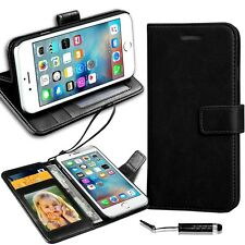 New Real Luxury Leather Wallet Flip Case For Various Smart Phones + Mini & Film