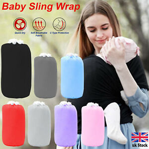 BABY SLING WRAP STRETCHY WRAP CARRIER BREASTFEEDING  BIRTH TO 3YRS MANY COLORS