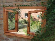 Christmas Gardening Gift - Illusion Double Opening Window Garden Mirror - Wooden