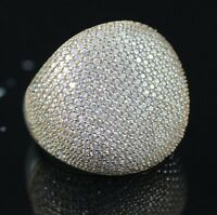 925 Sterling Silver Handmade Antique Turkish Zircon Ladies Ring Size 6-9