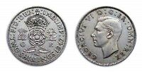 1947 BRITISH 2 SHILLING/FLORIN COIN - Crowned Rose / King George VI 👑  RARE