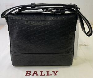 Bally Tamrac SM Black, Calf Leather Embossed RRP £430 (S-3)