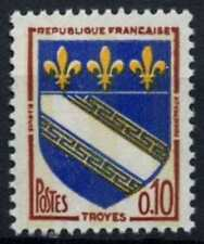 France 1970 SG#1267p 10c Troyes, Arms, Phosphor MNH #D64712