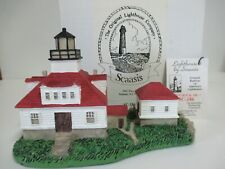 """New listing Scaasis Lighthouse """"Egg Rock"""" Maine #186 - Mib w/Tag. Small lighthouse figurine"""