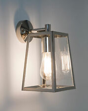 Astro Calvi IP23 outdoor external wall lantern light 60W E27 polished nickel