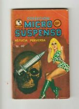 MICRO SUSPENSO #442 NOIR CRIME MEXICAN COMIC DRUGS, NEEDLE, SEXY MINI SKIRT-C