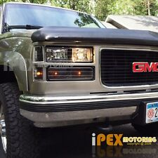 1994-1998 GMC Sierra Suburban Yukon 8PC Black Headlight + Corner + Bumper Lights