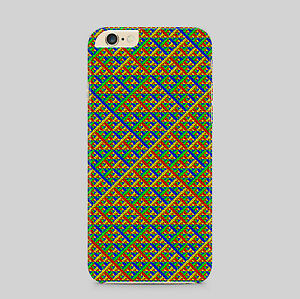Diamond Woven Wallpaper Phone Case Cover
