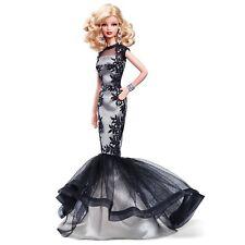 RARE Platinum Label Collector Barbie Classic Evening Gown Black & White NRFB