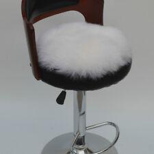 Winter Thicken Warm Furry Round Cushion Long Wool Fur Plush Chair Seat Pad Cover