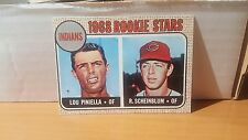 1968 Topps Baseball Card #16 Rookie Stars Lou Piniella RC EXMT *1705