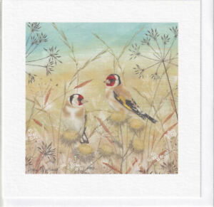 Goldfinches Greetings Card - Anne Mortimer, Enchanted Wildlife range, birds