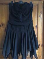 Ladies Strapless Dress Size S