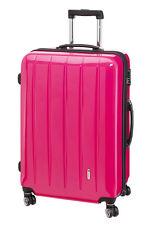 Trolley Hartschale 60 cm Koffer Trolly 4 Rad m TSA Schloß London  pink