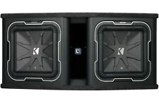 "Kicker 41DL7122 Dual 12"" L7 2-Ohm 1800W Loaded Subwoofer/Subs Enclosure/Box"