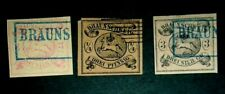 lot 3 Germany Brunswick State  stamp official reprint used XF