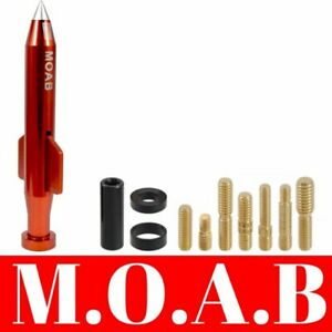 Mother of All Bombs Short Red Bullet Antenna For Nissan Titan Frontier Xterra