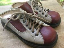 Dr Martens Womens Sz 5 Bowling Shoes Chunky Slides Clogs 2 Tone Made In England