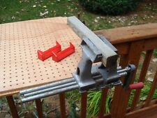 """Vintage Clamp on Bench Table Anywhere Woodworking Vise 4"""" Jaws"""