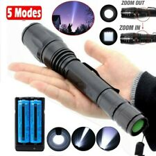 Long Rang 950000LM Tactical LED Flashlight Police Rechargeable Torch Light Lamp