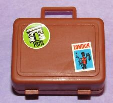 *Vintage 1972 Busy Barbie Doll #3311 Small Brown Travel Case