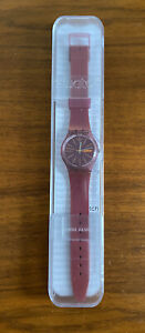 Silicone Swatch Watch Swiss Made GP701 Sneaky Peaky Day & Date Two Tone Boxed