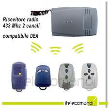 Ricevente radio ricevitore 433 Mhz 2 canali compatibile Dea System fix e rolling