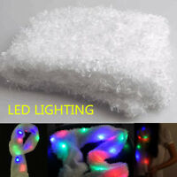 White LED Flashing Lights Scarf Women Christmas Halloween Winter Warm Shawl Gift